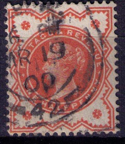 Great Britain Sc #111 1/2p Vermilion Very Fine