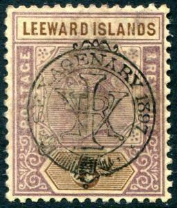 HERRICKSTAMP LEEWARD ISLANDS Sc.# 13 Mint NH Scott Retail $130.00