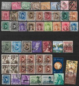 COLLECTION LOT #707 EGYPT 43 STAMPS 1879+ CLEARANCE