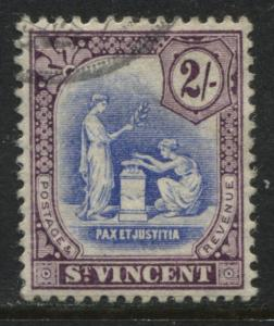 St. Vincent 1913 2/ purple and ultra used