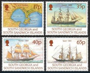 South Georgia 194-197,MNH. Capt. Larsen's first voyage to South Georgia, 1994