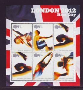 Great Britain Sc 2301 2005 Olympics 2012 stamp sheet mint NH