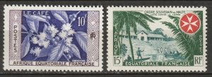 French Equatorial Africa 1956-57 Sc 193-4 MLH*