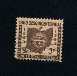 USA #1018  6  used 1953 PD .08