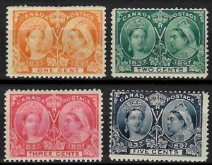Canada #51 to 54 Mint LH/H C$430.00 Jubilee  (#52 and 54 are NH)