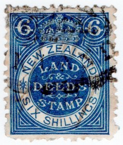 (I.B) New Zealand Revenue : Land & Deeds 6/-