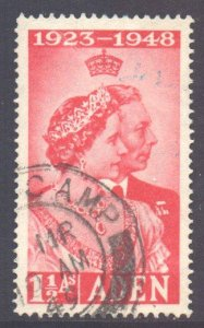 Aden Scott 30 - SG30, 1948 Silver Wedding 1.1/2a used