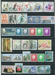 D123651 Monaco MNH Year 1980 55 values