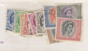 RHODESIA (MK6432) # 142-45,143B,147,149-53 VF-USED VARp,sh  ELIZABETH II CV $17