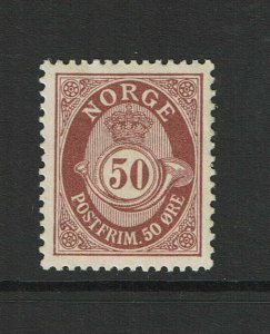 Norway SC# 94, Mint Hinged, Hinge/Page Remnant, minor creasing - S9390