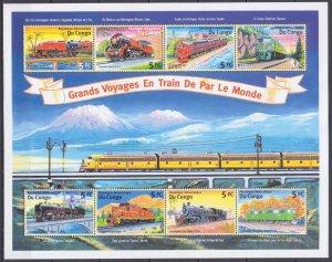 2001 Congo (Kinshasa) 1567-74KL Locomotives 15,00 €