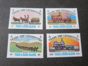 Turks & Caicos Islands 1983 Sc 550-3 Train set MNH