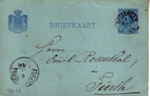 Netherlands, Government Postal Card
