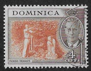 DOMINICA SC# 126  FVF/U 1951