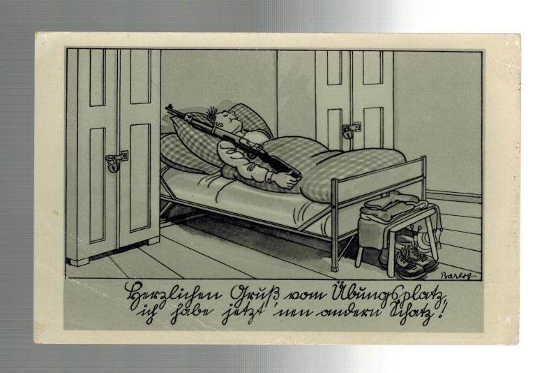 1939 Elsgrund Germany Postcard Cover to Italy Soldier in Bed CArtoon