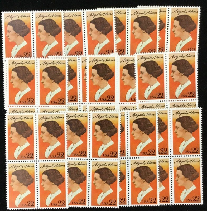 2146     Abigail Adams, First Lady    100 MNH  22 cent stamps     Issued in 1985