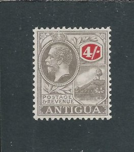 ANTIGUA 1921-29 4s GREY-BLACK & RED MM SG 80 CAT £50