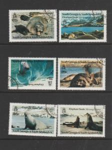 South Georgia 1991 Elephant seals VFU/CTO SG 203/8