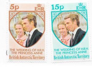 British Antarctic Territory #60-61 Wedding (MNH) CV $1.10