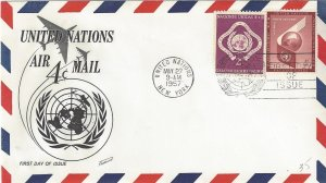 United Nations C5  FDC  Airmail  Fleetwood Cachet