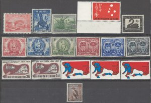 COLLECTION LOT # 2452 AUSTRALIA 17 MH STAMPS 1932+ CLEARANCE CV+$12