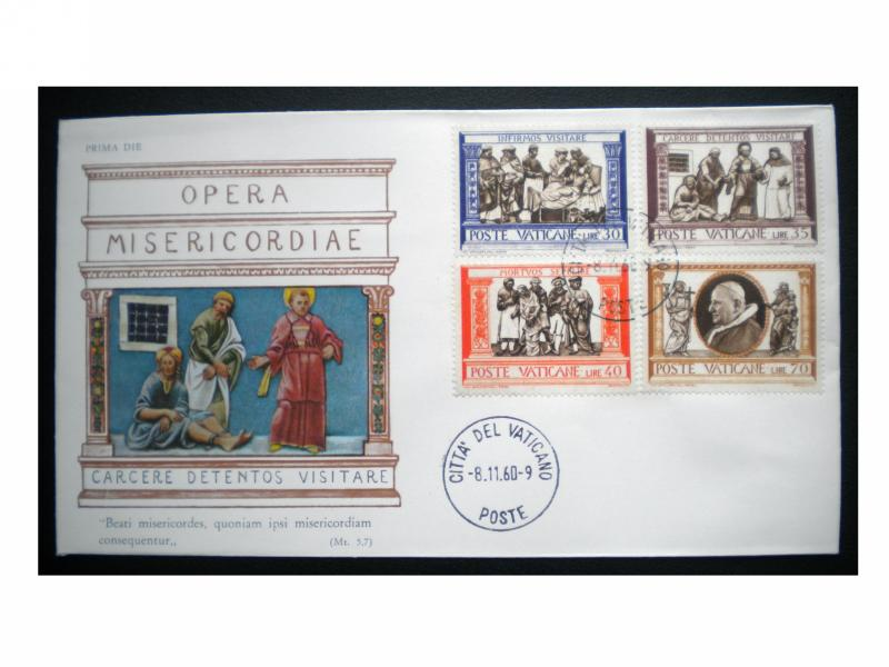VATICAN CITY FIRST DAY COVER. SCOTT # 288. YEAR 1960. ITEM:001053