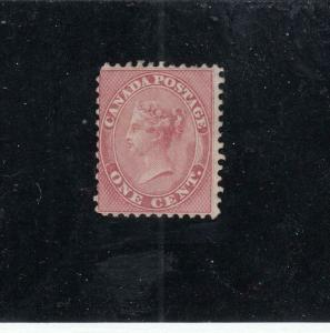 CANADA (KSG320) # 14  F-MNH  1cts VICTORIA/FIRST CENTS ISSUE /ROSE CAT VAL $300