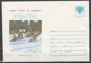 Romania, 0107-79 issue. International Year of the Child, Cachet Postal Envelope.