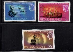 Pitcairn Islands Sc 85-7 1967 Capt Bligh stamp set mint NH
