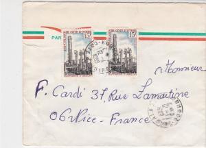 Rep De Cote D'Ivoire 1969 Airmail Refinery of D'Abidjan Stamps Cover Ref 32410