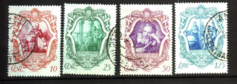 J22597 Jlstamps 1942 italy set used #419-22 galileo