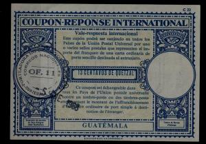 Guatemala IRC (intl. reply coupon) 1968 folded