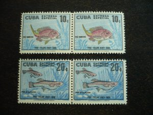 Stamps - Cuba - Scott#E26-E27, Mint Hinged Set of 2 Stamps in Pairs