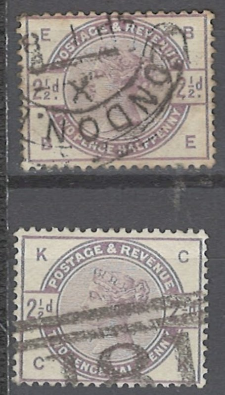COLLECTION LOT # 2241 GREAT BRITAIN #101 X 2 1884 CV=$36