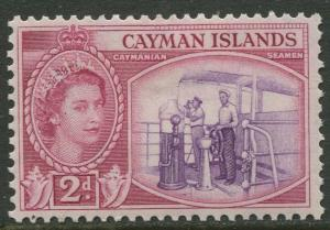 Cayman Islands - Scott 139 - QEII Definitive -1953-59 - MH- Single 2d Stamp