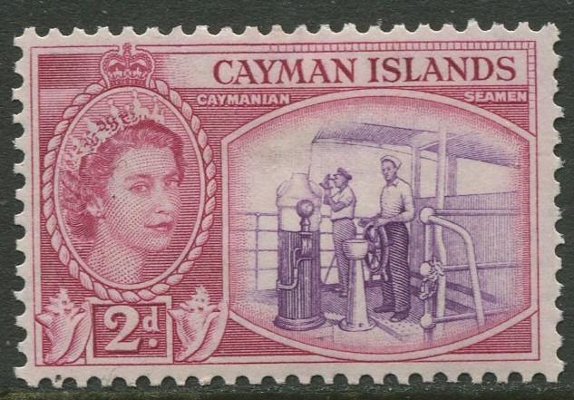 Cayman Islands - Scott 139 - QEII Definitive -1953-59 - MH- Single 2d Stamp