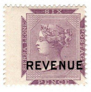(I.B) Sierra Leone Revenue : Stamp Duty 6d