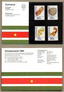 4 Various Local Seashells, Surinam SC#669-672 MNH set