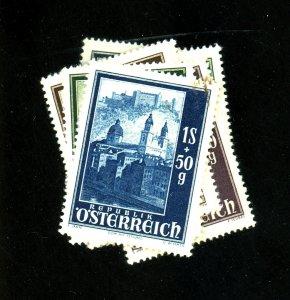 Austria #B252-59 MINT F-VF OG NH Cat $19