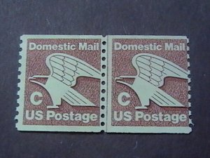 U.S.# 1947-MINT/NEVER HINGED-JOINT-LINE PAIR---C RATE-EAGLE---1981