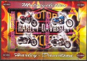 Djibouti 2013 Motorcycles MNH Cinderella !