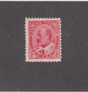 CANADA (MK415) # 90i  F-MH  2cts  KING EDWARD VII /ROSE CARMINE CAT VALUE $30