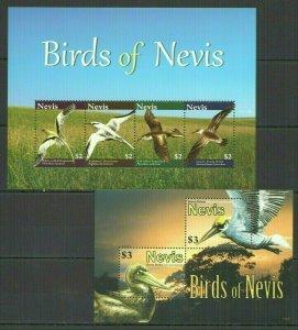 R1492 2010 NEVIS FAUNA BIRDS OF NEVIS KB+BL MNH