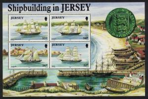Jersey Shipbuilding MS 1992 MNH SG#MS583