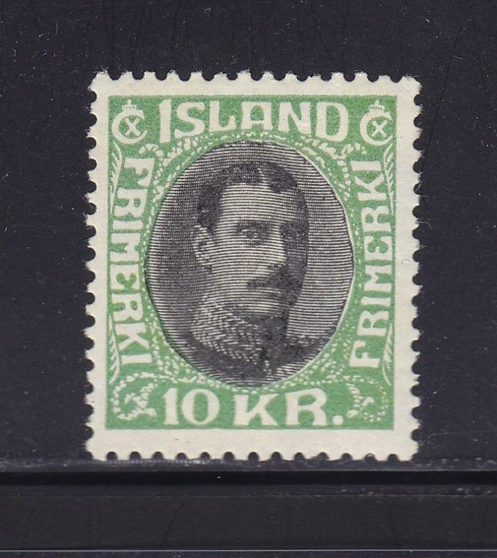 Iceland Scott # 187 VF mint lightly hinged nice color cv $ 350 ! see pic !