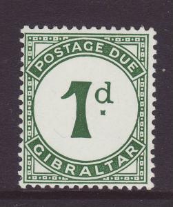 1956 Gibraltar 1d Postage Due Mint