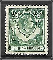 Northern Rhodesia #25 KG VI Used