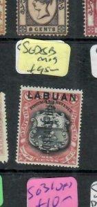 LABUAN (P1811B)   ON NORTH BORNEO 6C POSTAGE DUE  SG D5B   MOG