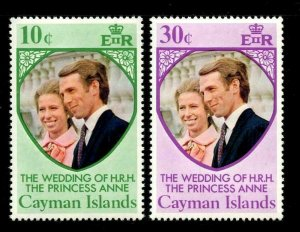CAYMAN ISLANDS - 1973 - ROYAL WEDDING - ANNE + MARK - MINT - MNH SET!