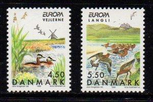 Denmark  Scott  1152-3  1999 Europa Nature Reserves stamp set mint NH